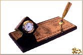 Мини письменный набор Доллар из обсидиана