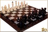 Шахматы Классические маленькие из обсидиана