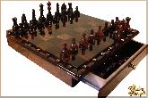 Шахматы Классические средние из обсидиана