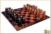Шахматы Абстрактные маленькие из обсидиана
