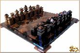 Шахматы Абстрактные средние из обсидиана