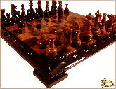 Шахматы Гроссмейстерские средние из обсидиана