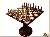 Шахматы Бронзовое чудо (с бронзовыми фигурами) из обсидиана