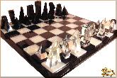 Шахматы Кристалл из обсидиана