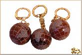 Брелок Шар глобус из обсидиана