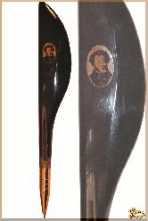 Ручка Пушкин из обсидиана