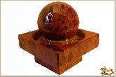 Фонтан Классический с шаром д200 из обсидиана