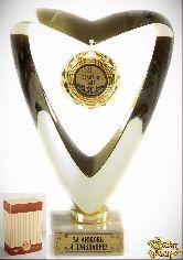 Кубок подарочный Сердце Золотой папа