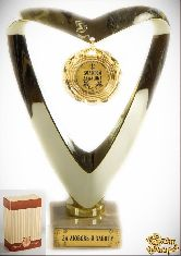 Кубок подарочный Сердце Золотой дедушка