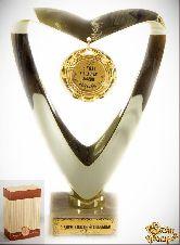 Кубок подарочный Сердце 3 года в счастье, любви и согласии