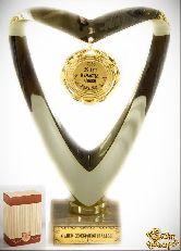 Кубок подарочный Сердце 25 лет в счастье, любви и согласии