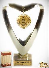 Кубок подарочный Сердце 10 лет в счастье, любви и согласии