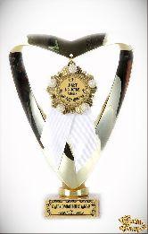 Кубок подарочный Сердце С Юбилеем Свадьбы 10 лет (Орден, белая лента)