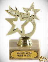 Кубок подарочный Танцующие звезды Всегда отдаюсь работе на 100% 8см