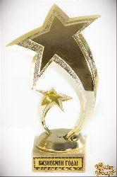 Кубок подарочный Две звезды.Бизнесмен года! 16см