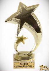 Кубок подарочный Две звезды.Женщина руководитель года! 16см