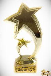 Кубок подарочный Две звезды.Менеджер года! 16см