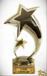 Кубок подарочный Две звезды.Лучший в профессии! 16см