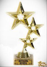 Кубок подарочный Три звезды Королева вечера!