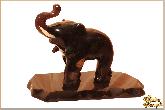 Фигура Слоненок из обсидиана