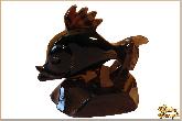 Фигура Рыбка из обсидиана
