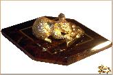 Фигура Мышь из обсидиана