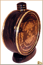 Бочка Фляга (0,3литр) из обсидиана