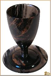 Рюмки и бокалы Текила (без тарелки) из обсидиана