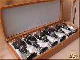 Рюмки и бокалы Сервиз вино серебро из обсидиана