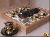 Рюмки и бокалы Кофе серебро из обсидиана