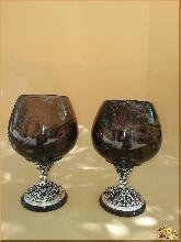 Рюмки и бокалы Виноград из обсидиана