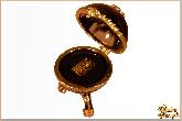 Инкрустированная шкатулка Золотая волюта из обсидиана