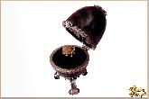Инкрустированная шкатулка Соло ковчег (яйцо) из обсидиана