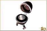 Инкрустированная шкатулка Серебренный ряд из обсидиана