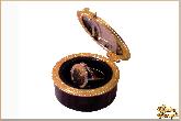 Инкрустированная шкатулка Парижская золужка из обсидиана