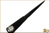 Канцелярский нож с часами из обсидиана