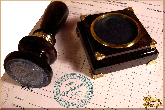 Рукоятка для печати Одобряю из обсидиана