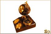 Метеостанция Планета Земля (с компасом) из обсидиана