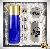 Набор Мужской подарок с синим термосом За Охоту (Утки)
