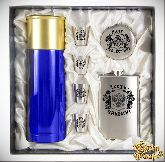 Набор Мужской подарок с синим термосом Долг-Отечеству...Честь-Никому..