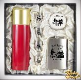 Набор Мужской подарок с красным термосом За Охоту (Утки)