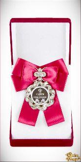 Медаль Волна Большой бант красн. С Днем Рождения!