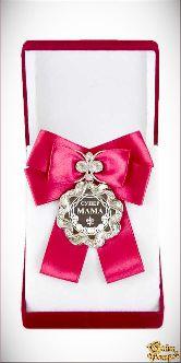 Медаль Волна Большой бант красн. Супер мама!