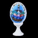 Пасхальное яйцо куриное на подставке Пасхальный пейзаж