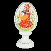 Пасхальное яйцо деревянное с ручной росписью Угощение