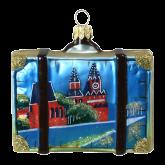 Ёлочная игрушка из Польши Чемодан туриста. Россия