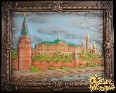 Резное панно «Московский Кремль»