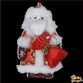 Дизайнерская игрушка ручной работы Дед мороз красный