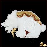 Дизайнерская игрушка ручной работы  Белый мишка