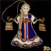 Дизайнерская игрушка ручной работы Девушка с коромыслом